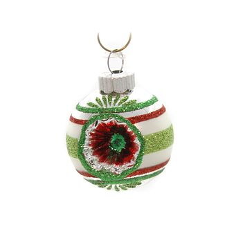 Shiny Brite Holiday Splendor Rounds W/Reflector Glass Ornament