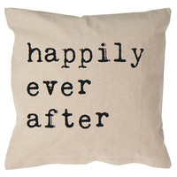 Happily Ever After Cushion by Tillyanna - Love/wedding/anniversary/engagement gift -100% Linen