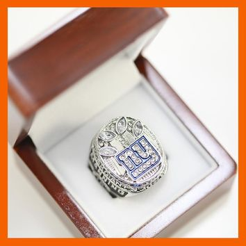 2011 NEW YORK GIANTS SUPER BOWL XLVI WORLD CHAMPIONSHIP RING WITH MANNING PLAYER US SIZE 8 9 10 11 12 13 14 AVAILABLE