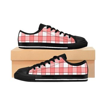The Plaid Red Women's Sneakers