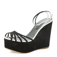 Sergio Rossi - Glazed Suede Wedge