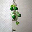 Green Purse Charm Clear Pendant Zipper Pull Upcycled