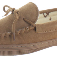 Lamo Terry Moccasin Women's Suede Slippers House Shoes