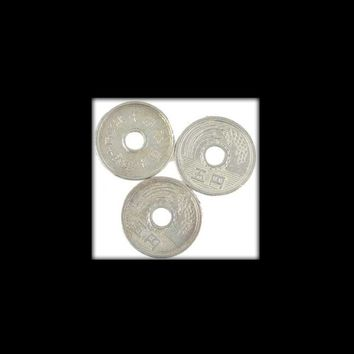 Set of 3 Chinese Coins made of Pewter