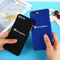 Fashion Brand Tide Phone case for iPhone 7 Hard Plastic Coque for iPhone 8 7 6 6S Plus Ultra Thin Matte PC fundas for iphone X