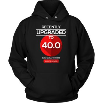 Funny 40th Birthday Version 40.0 Nerdy Gift Hoodie