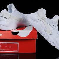 Womens Nike Air Huarache RUN ULTRA All White