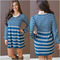 Bit Of Joy Striped Dress - Piace Boutique