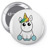 unicorn Pin-back button