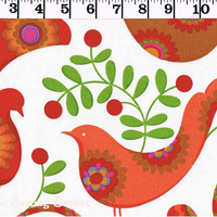 Pretty Bird Cotton Quilting Fabric from Michael Miller by the yard