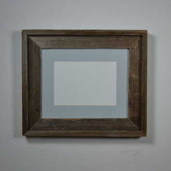 Upcycled wood photo frame 8x10 with 5x7mat
