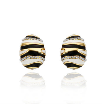 18K Gold Earrings fashion jewelry earrings for women MEPVTUFT