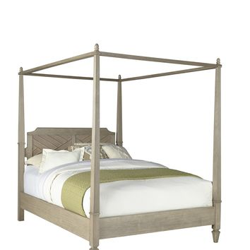Coronado Transitional Complete Queen Canopy Bed Flax