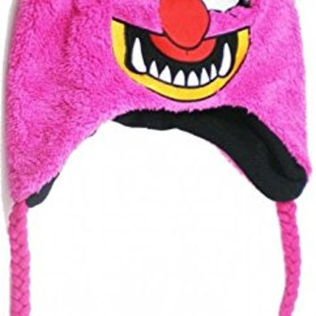 The Muppets Animal Felt Fleece Applique Beanie Hat [Ages 14+ - Pink]