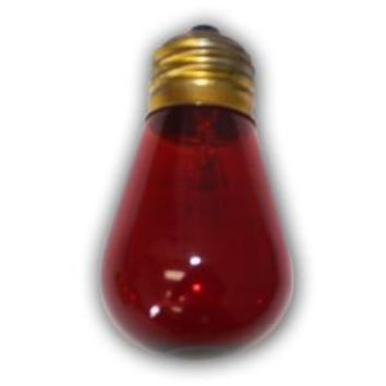E26  Medium Size Red Light Bulb  S14  11 Wattages E26   Suspended, Euro, Bistro, and Garden Series string lights