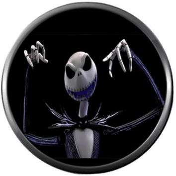 Scary Jack Skellington Halloween Town Nightmare Before Christmas 18MM - 20MM Charm for Snap Jewelry New Item