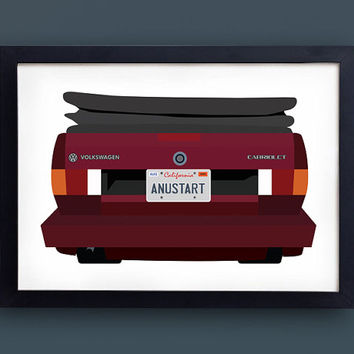 Arrested Development poster - ANUSTART - Tobias funke license plate - david cross volkswagen VW