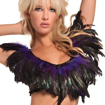 Exotic Feathers Top Purple