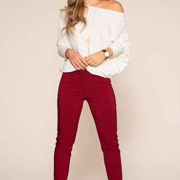 Kiki Pants - Burgundy