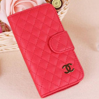 iPhone 4 sleeve, iPhone 4s Case, iPhone case, iPhone 4 pouch, simple chanel leather pattern style art iphone 4 case sleeve - passion red