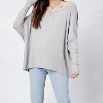Delilah Lovestitch Sweater Light Grey