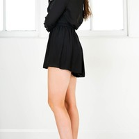 Lost Time playsuit in black Produced By SHOWPO
