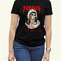Kanye West Yeezus Black Women Clothing High Quality tee S,M,L and XL (Y11)