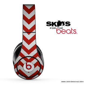 Red Chevron Pattern Skin for the Beats by Dre
