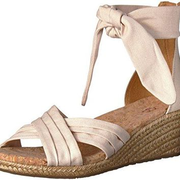UGG Women's Traci Wedge Sandal, Cream, 5.5 M US