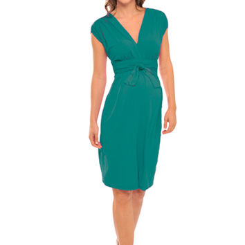 Olian Ruched Shoulder Maternity And Nursing Dress