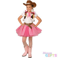 Girl's Costume: Cowgirl Cutie-Medium