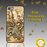 Kraken Steampunk Octopus Sea Monster - Photo on Hard Cover - For iPhone Case ( Select An Option )