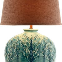 0-002499>Rochel 1-Light Table Lamp Turquoise Green