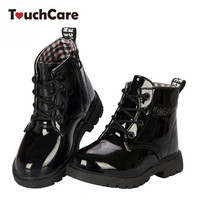 New fashion Chaussure Enfant children martin boots girls boys winter shoes kids rain boots PU Leather Kids Sneakers