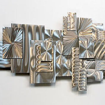 Large Decorative Modern Metal Abstract Wall Sculpture Time Suspended / by Statements2000