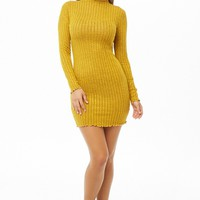 Ribbed Marled Mini Dress