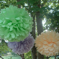 1 Large Soft Lavender. Tissue Paper Pom Poms -  for Baby Shower / Baptism / Birthday / Wedding Party Decoration - Custom Colors