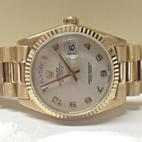 ROLEX mens Day Date President 18038 1986