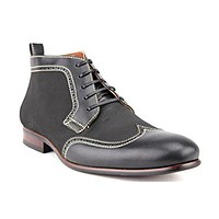 Ferro Aldo Men's 806383 Wing Tip Perforated Lace Up Dress Boots