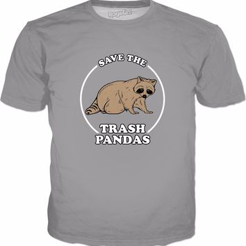 Save The Trash Pandas T-Shirt - Funny Raccoon Meme
