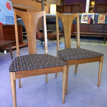 Pair of Mid Century Vintage T-Back Accent Chairs
