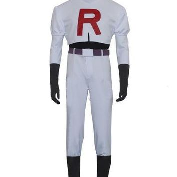 2016 best quality Classic Halloween Costumes Pokemon Team Rocket James Cosplay Costume role-playing costumes