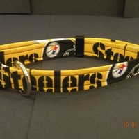 Pittsburgh Steelers Dog Collar, choose your size.  NO BOW