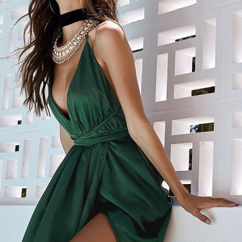 Pandora Maxi Dress Emerald Green