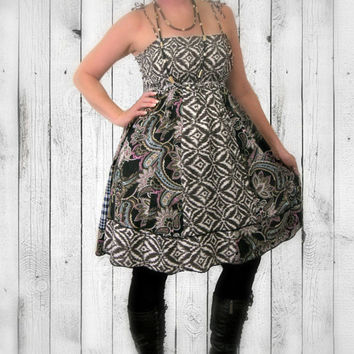 Upcycled Indie Dress, ON SALE-20% OFF! Tribal Sundress, 100% Handmade ~ Altered Clothing by Pandora's Passions