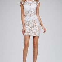 Sexy Short White Jeweled Dress 26739 - Homecoming Dresses
