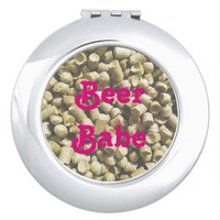 Beer Hops Brewery Home Brew Hop Head Compact Mirrors