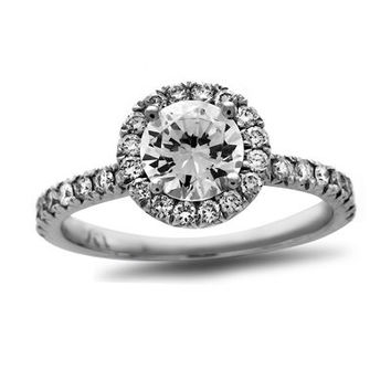3/4 CT. T.W. Certified Diamond Frame Engagement Ring in Platinum (H/SI2) - View All Rings - Zales