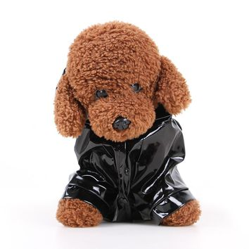 Dog Raincoat, Pet Puppy Rainwear Hooded Clothes Waterproof Jacket