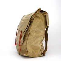 Vintage Boy SCOUTS Canvas Camping Bag Day Trip Backpack School Bag